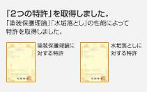 2つの特許を取得しました